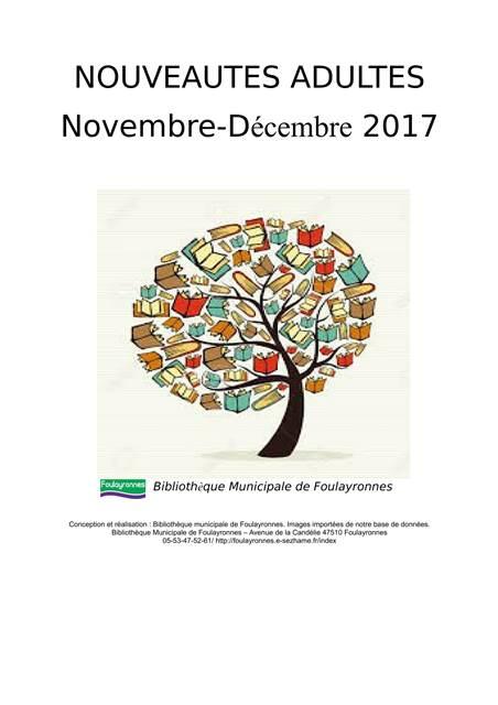 Nouveautés novembre 2017