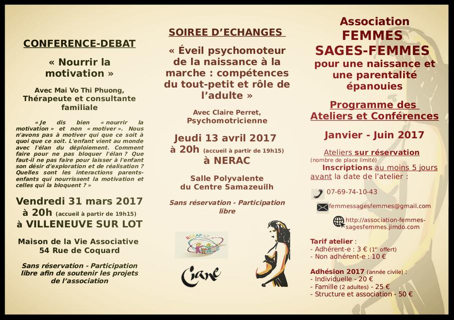 L' Association Femmes Sages-femmes programme 2017 2