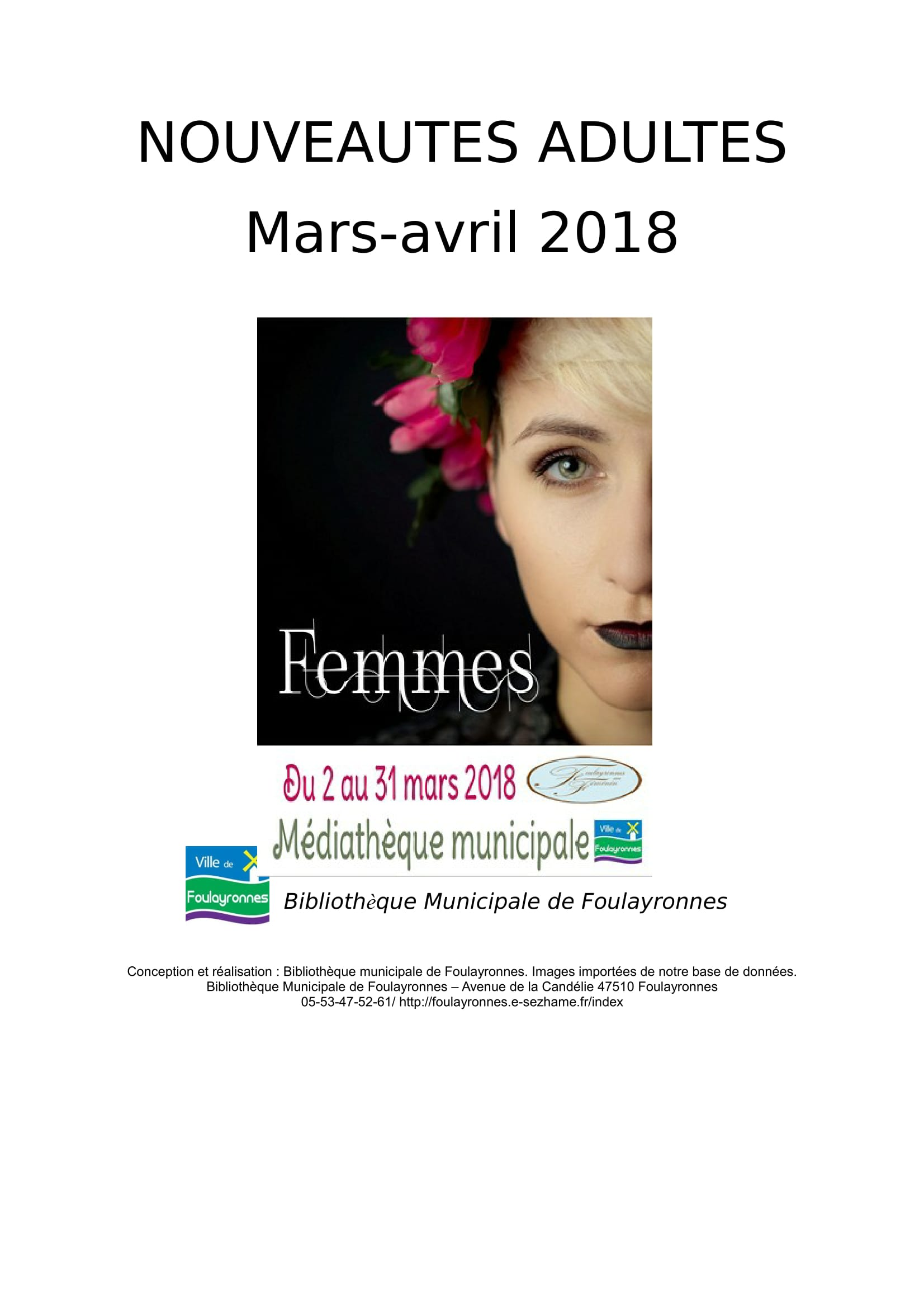 Catalogue mars avril 2018