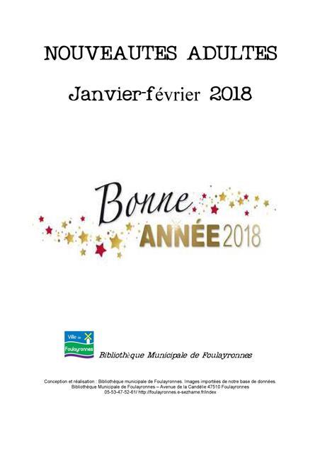 catalogue nouveauté janvier fevrier 2018