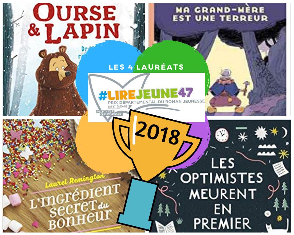 #lirejeune47 lauréats 2018
